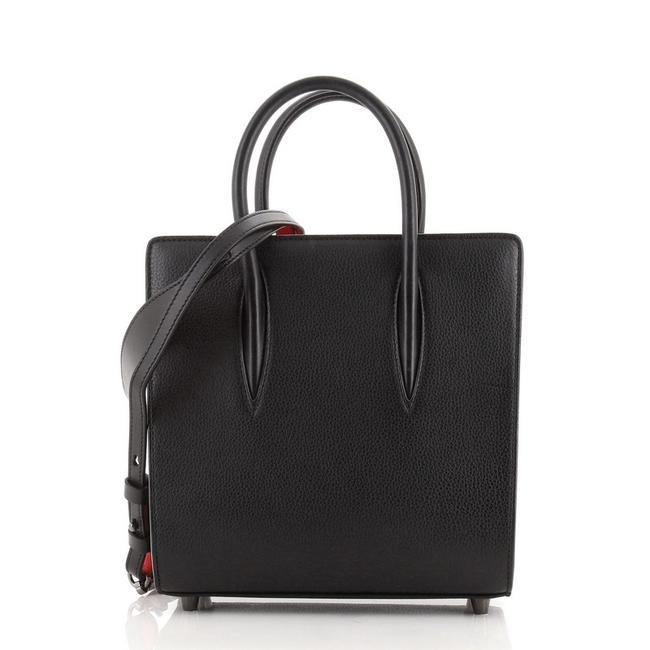 Item - Paloma Small Black Red Leather Tote