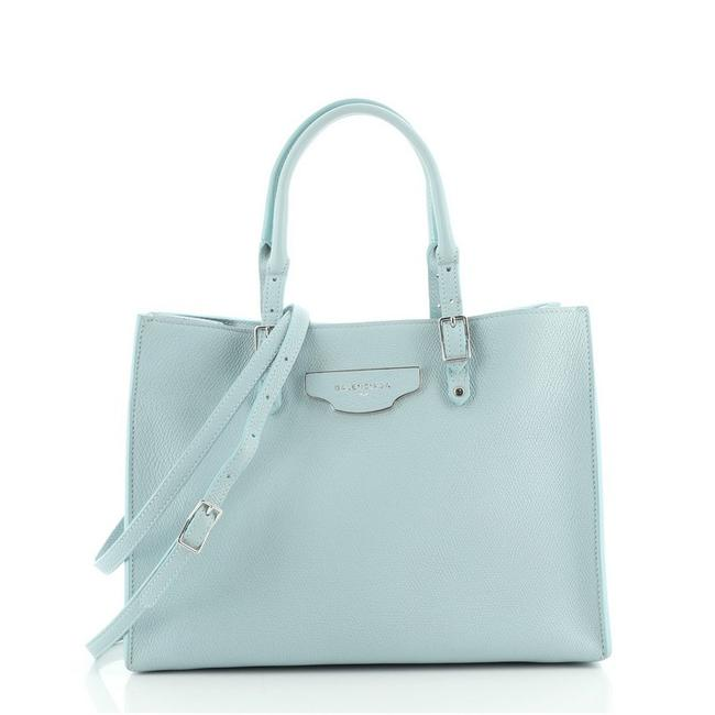 Item - Papier A6 Zip Around Blue Leather Tote