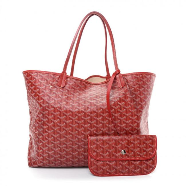Item - Saint Louis Gm Red Coated Canvas Tote