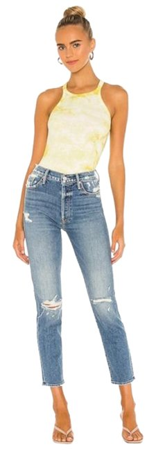 Item - Blue Distressed Superior The Trickster Ankle Straight Leg Jeans Size 30 (6, M)