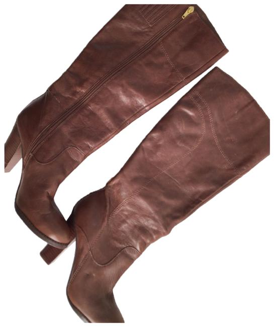 Item - Brown Womens Leather Boots/Booties Size US 7.5 Narrow (Aa, N)