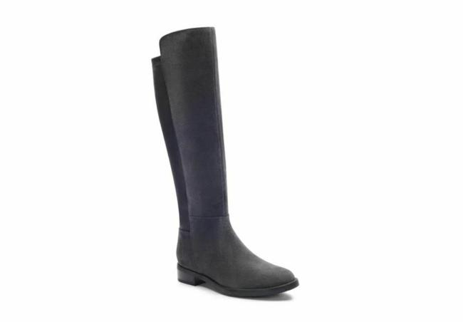 Item - Gray Ellie Waterproof Suede Leather Tall Boots/Booties Size US 6 Regular (M, B)