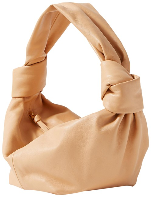Item - Jodie Mini Knotted Tote Sand Leather Shoulder Bag