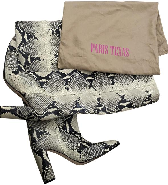 Item - Snake Embossed Leather Knee Boots/Booties Size US 11 Regular (M, B)