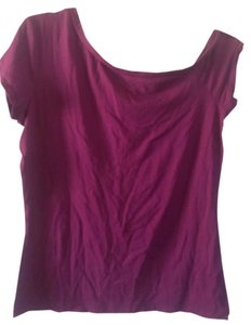 The Limited Color Like New Great Look Off Shoulder T Shirt Dark fushia