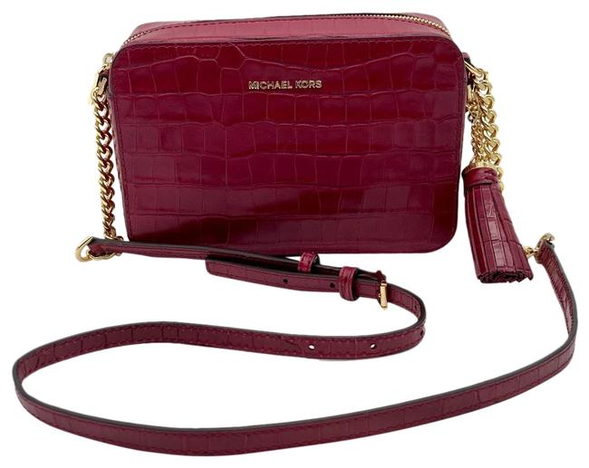 Item - Camera Ginny Mulberry Croc Embossed Red Leather Cross Body Bag