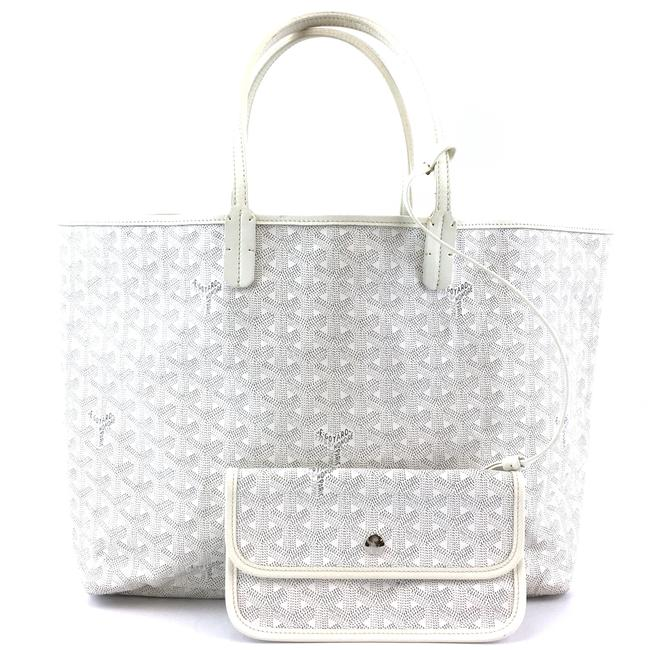 Item - #42111 with Pochette St Saint Louis Pm Tote Work White ine Coated Canvas and Leather Shoulder Bag