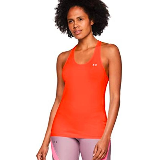 Item - Beta/Silver Metalic Heatgear Fitted Racer Activewear Top Size 22 (Plus 2x)