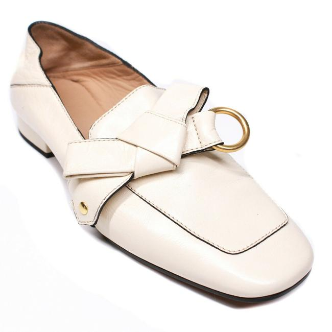 Item - Off-white / Ivory Quincy Convertible Loafers Cream Leather Tie Knot Slip On - 3 Flats Size EU 37 (Approx. US 7) Regular (M, B)