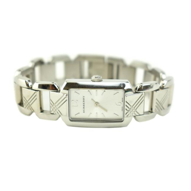 """Item - Silver Stainless Steel """"Check"""" & Logo Quartz (Np) Watch"""