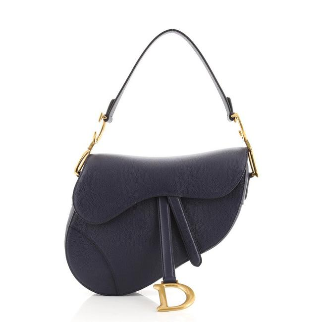 Item - Saddle Handbag Medium Blue Leather Shoulder Bag