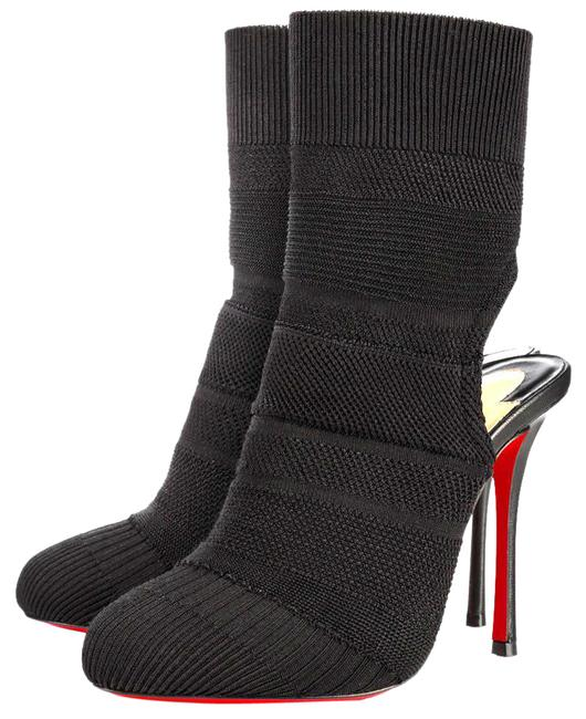 Item - Black Noemi Maille Knit 100 Stretch 36 Boots/Booties Size EU 36.5 (Approx. US 6.5) Regular (M, B)