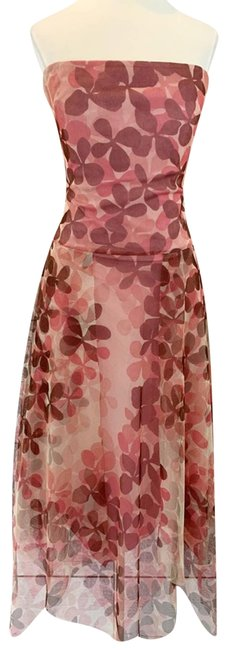 Item - Pink Strapless Mauve Tulle Short Casual Dress Size 4 (S)
