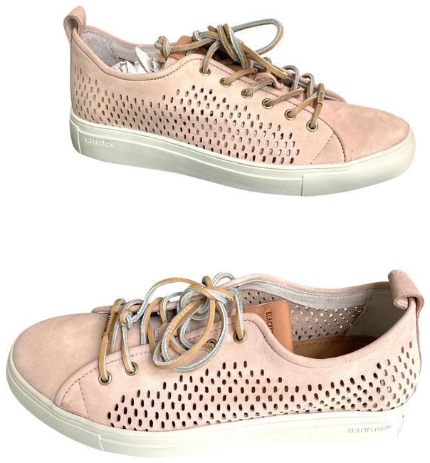Item - Pink Perforated Leather Rose Dust Sneakers Size EU 41 (Approx. US 11) Regular (M, B)