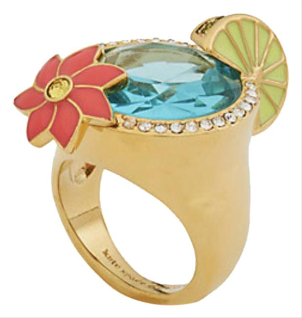 Item - Gold Multi W Out Of Office Cocktail Size 6 Dust Bag Ring