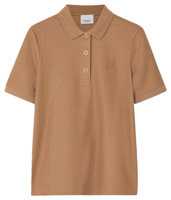 Burberry Embroidered Cotton-piqué Polo Tee Shirt Size 6 (S) Burberry Embroidered Cotton-piqué Polo Tee Shirt Size 6 (S) Image 1