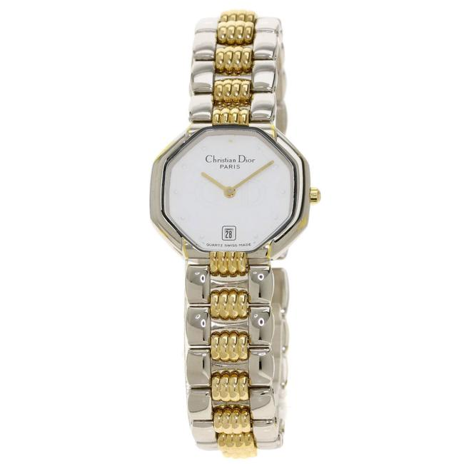 Item - Octagon Wrist Stainless Steel Gold Plated Ladies Watch