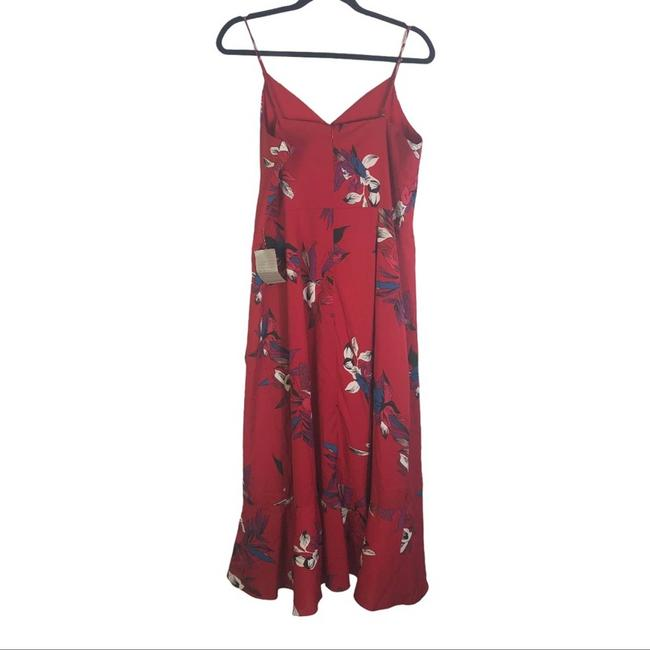 Item - Red L Floral Sleeveless Cocktail Dress Size 12 (L)