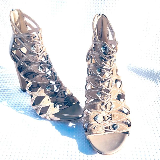 Item - Tan Yeager Military Caged Bootie Sandals Size US 9 Regular (M, B)