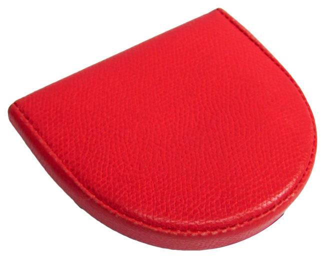 Item - Red Color Unisex Leather Coin Purse/Coin Case Wallet