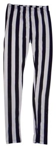 Amazing Lace Jailbird Black and white striped Leggings