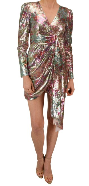 Item - Multiple Sequined Wrap Mini Short Night Out Dress Size 2 (XS)