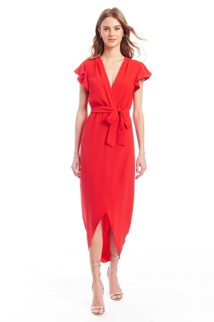 Item - Red Martinique Long Cocktail Dress Size 8 (M)