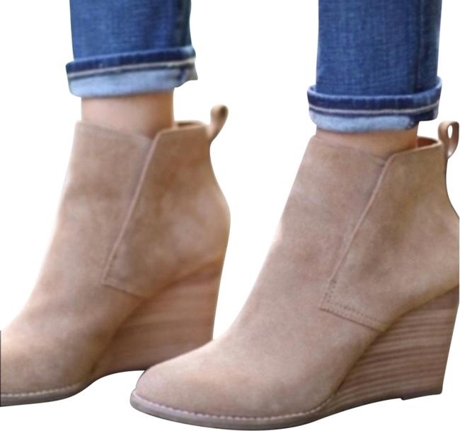 Item - Tan Yoniana Wedge (Suede) Boots/Booties Size US 9 Regular (M, B)