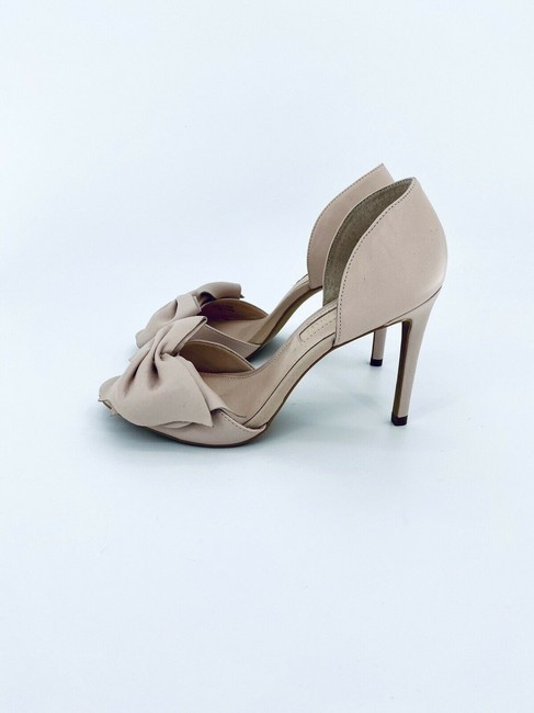 Item - Pink Leather D'orsay Bow Pumps Size US 7 Regular (M, B)