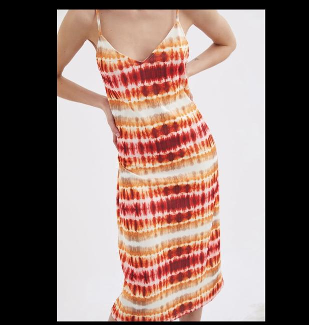Item - Multicolor Red Tie Dye Mid-length Casual Maxi Dress Size 8 (M)