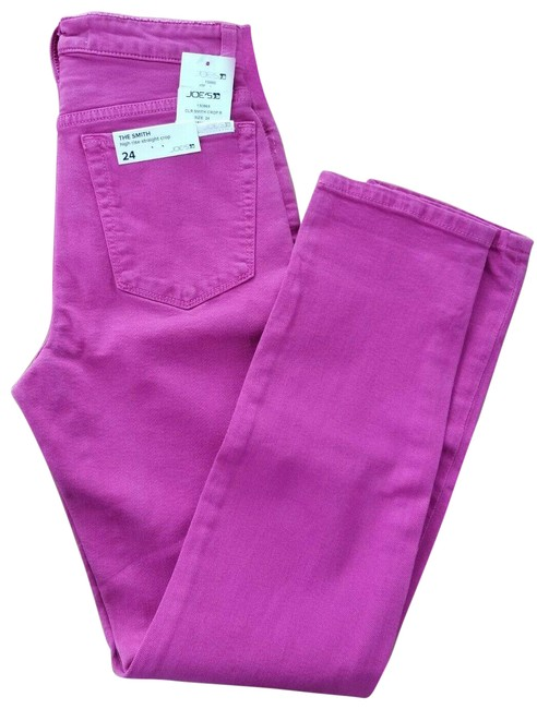 Item - Pink Dark Rinse The Smith Hot Capri/Cropped Jeans Size 24 (0, XS)