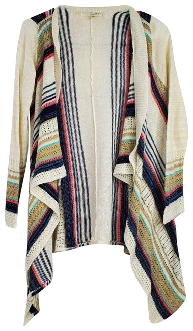 Item - Waterfall Knit Open Front Cardigan Cream Sweater