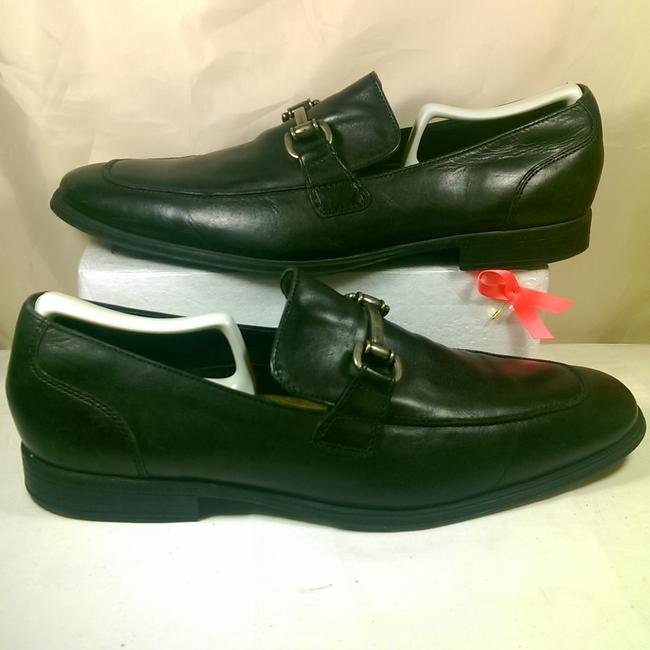 Item - Black Noir W/Silver Horsebit Nike Air Combo Leather Casual Dress Loafer 10.5m Shoes