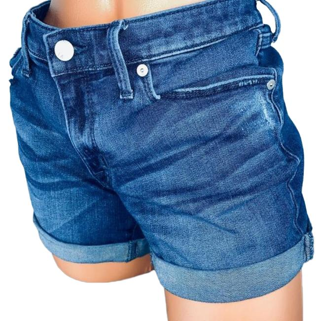 Item - Blue Mid Rise Power Stretch Jean Shorts Size 8 (M, 29, 30)