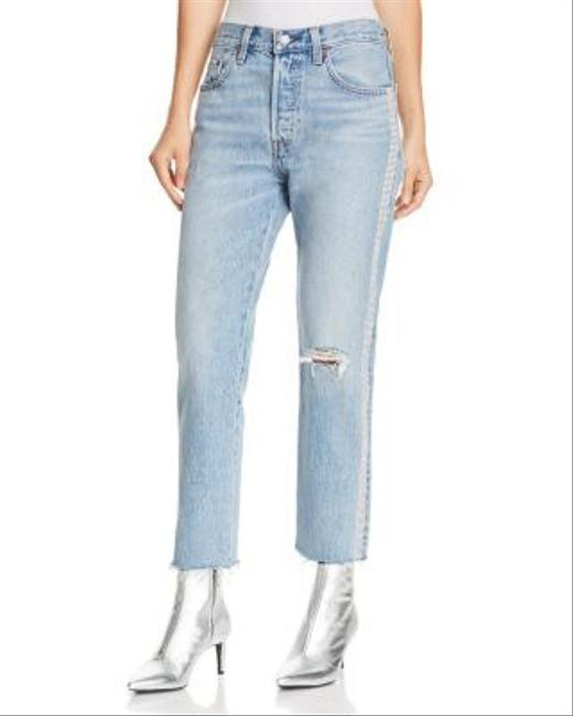 Item - Light Wash • 501 Crop Diamond In The Rough Straight Leg Jeans Size 0 (XS, 25)