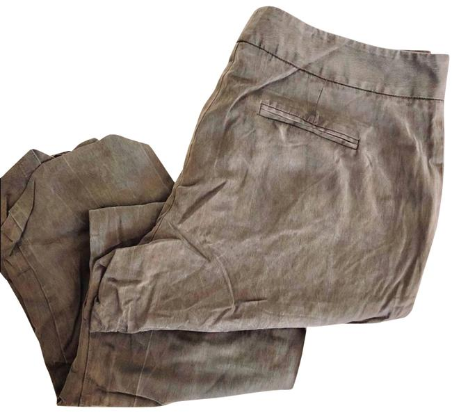 Item - Brown Daughters Liberation Grey Silk Ankle Crop Pants Size 12 (L, 32, 33)