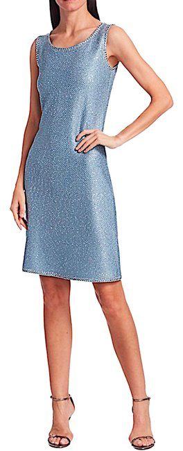 Item - Blue with Tag Luxe Sequin Knit A-line Mid-length Cocktail Dress Size 16 (XL, Plus 0x)