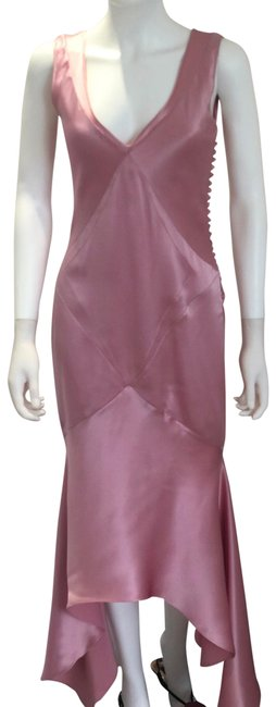 Item - Pink Silk Mid-length Night Out Dress Size 6 (S)