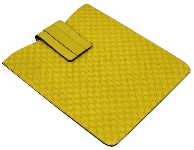 Item - Yellow ssima Leather Ipad Galaxy Tablet Document Case 256575 7308 Tech Accessory