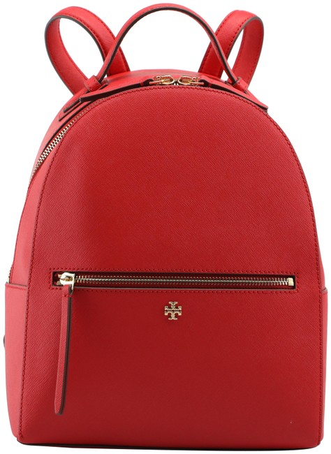 Item - Emerson Medium Brilliant Red Saffiano Leather Backpack