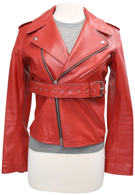 Item - Red Calfskin Small Jacket Size 4 (S)