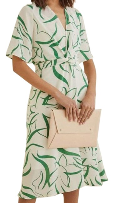 Item - Green Joselle Silk Agave Floral Casual Maxi Dress Size 4 (S)