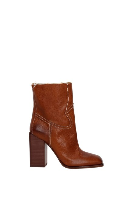 Item - Brown Ankle Women Leather Boots/Booties Size EU 36.5 (Approx. US 6.5) Regular (M, B)