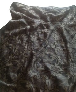 The Limited 100% Silk. Empire Waist Top Gray and black