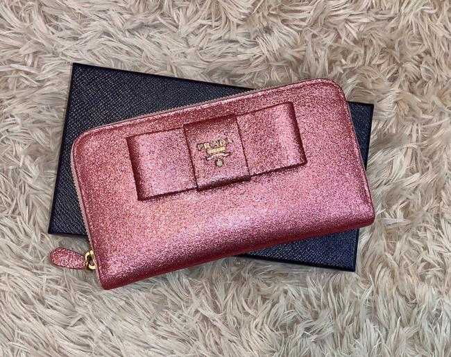 Item - Pink Bow Glitter Wallet