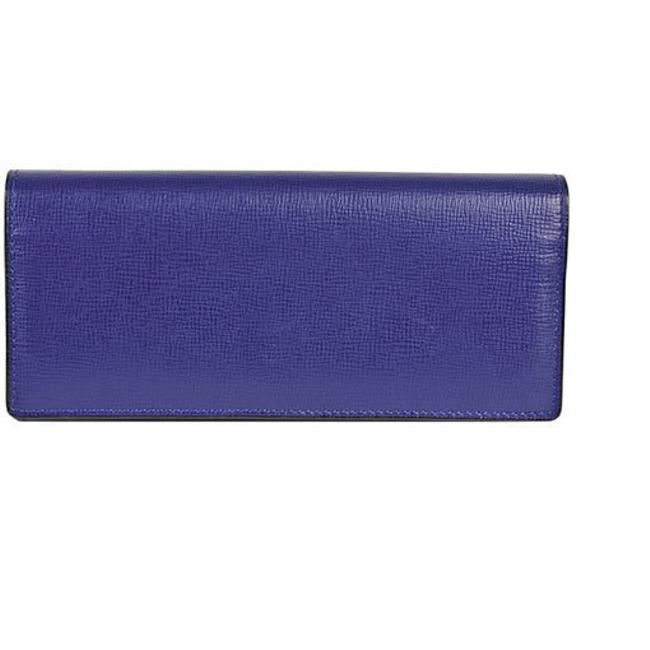 Item - Blue / Matte Silver Long With Coin Purse 8 Cards Leather V8l42 Wallet
