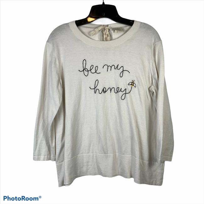 Item - Bee My Honey Bow Large Cream Sweater