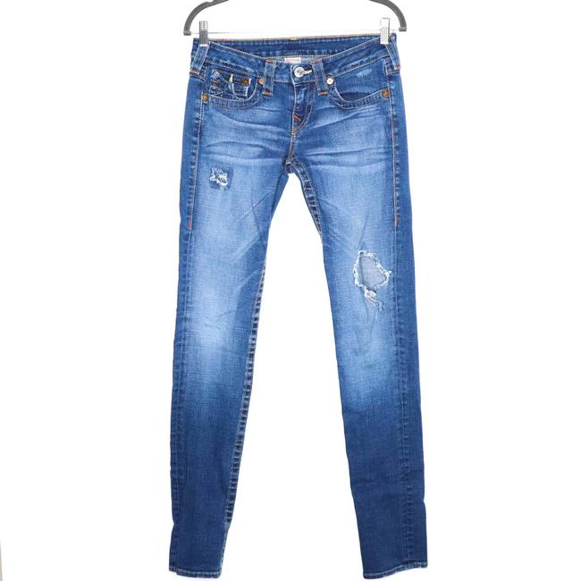 Item - Blue Julie Low Rise Distressed Skinny Jeans Size 28 (4, S)