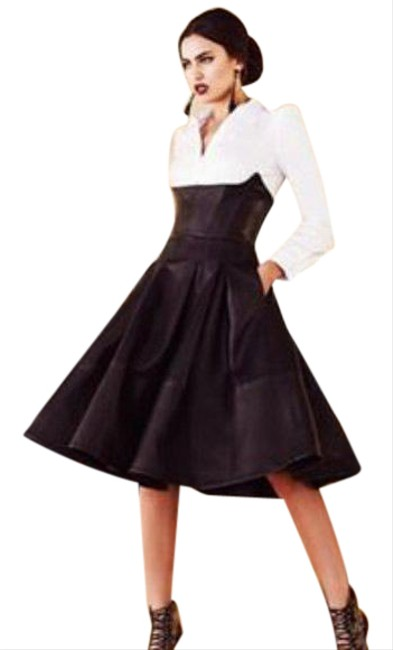 Item - Black Leather Pleated Ballet Skirt Size 0 (XS, 25)