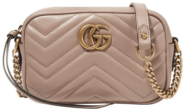 Item - Shoulder Marmont Gg Camera Mini Quilted Antique Rose Leather Cross Body Bag
